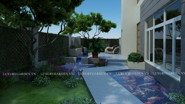 Sân vườn biệt thự nhà anh Trí- Splendora- CC 008