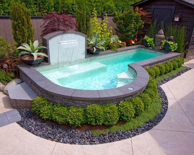 Một số cách thiết kế bể bơi nhỏ đẹp cho sân vườn
