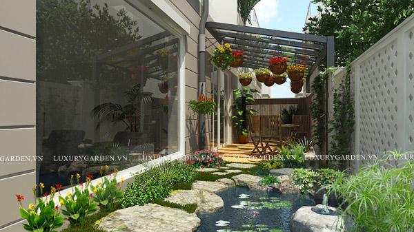 Thiết kế sân vườn biệt thự- Splendora (TG 005)