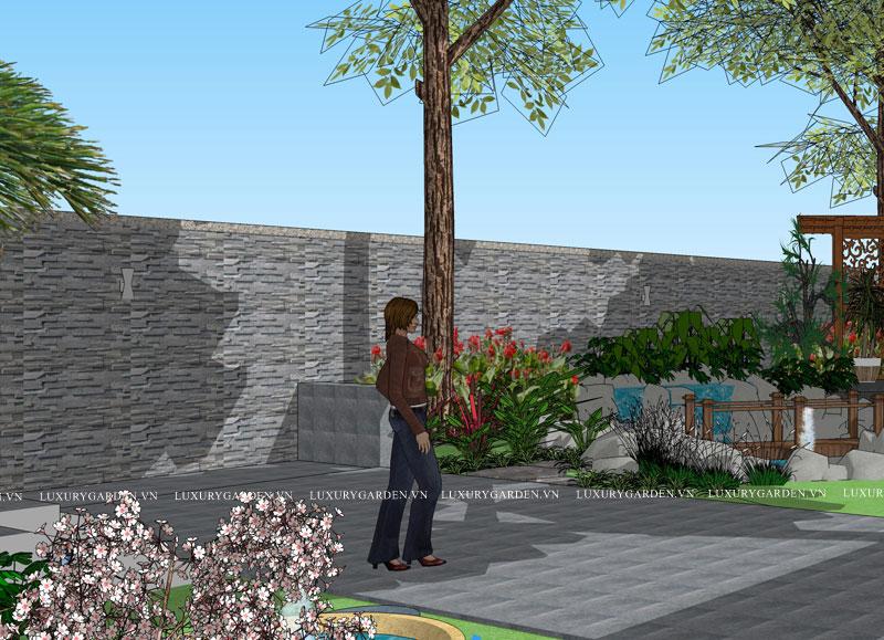 Ý tưởng ban đầu cho vườn trên Móng Cái