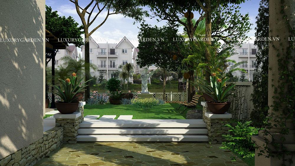 sân vườn biệt thự vincom village