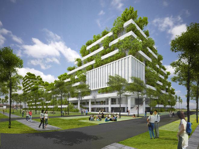 Thiết kế cây xanh phủ như rừng của Đại học FPT HCM