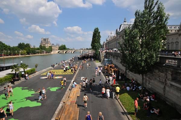 chuyển đổi cảnh quan hai bên bờ sông Seine