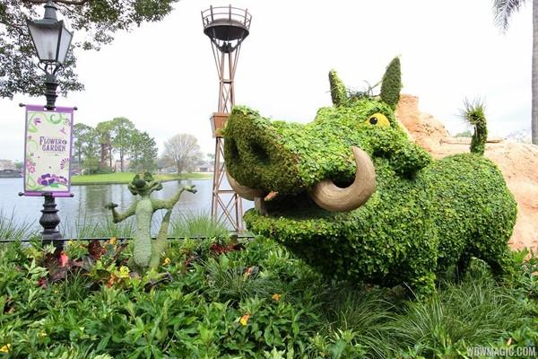 Con lợn rừng vui nhộn làm từ các cây xanh