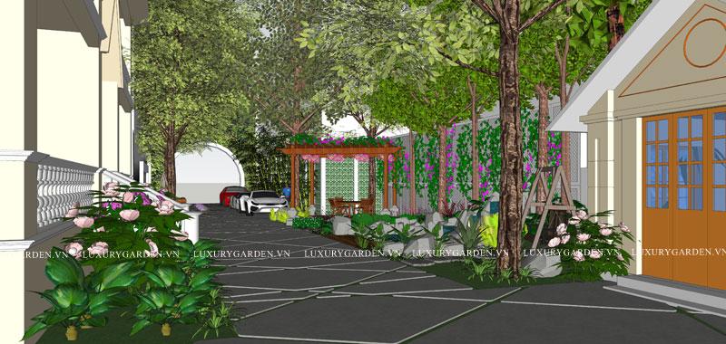 Kts trao đổi ý tưởng thiết kế sân vườn khách sạn Hải Phòng