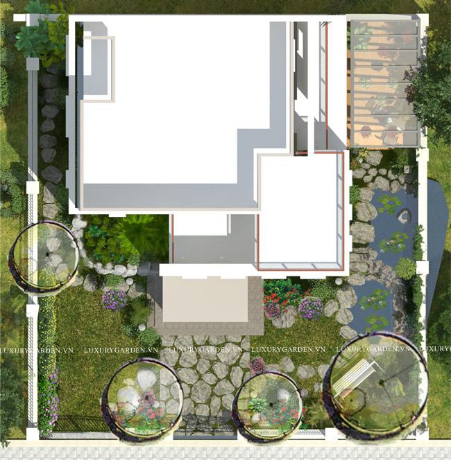 Mặt bằng tổng quan concept vườn đẹp