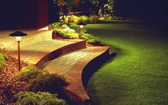 Nghệ thuật chiếu sáng sân vườn