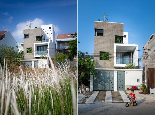 Kiến trúc ngôi nhà cùng mảng xanh độc đáo ở Sài Gòn