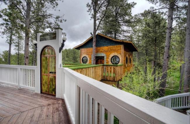 Ngôi nhà trên một chiếc cây và có nối vào hoành tráng