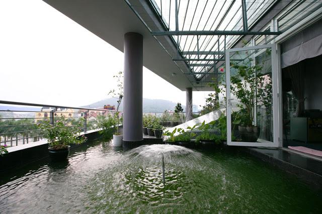 Tòa nhà dùng nước làm mát tự nhiên