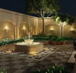 Sân vườn Ả Rập vào buổi đêm