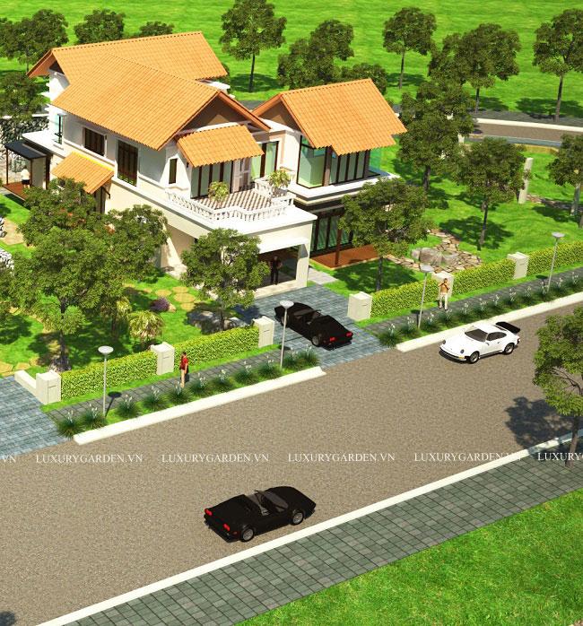 Mô hình biệt thự nhà vườn sang trọng
