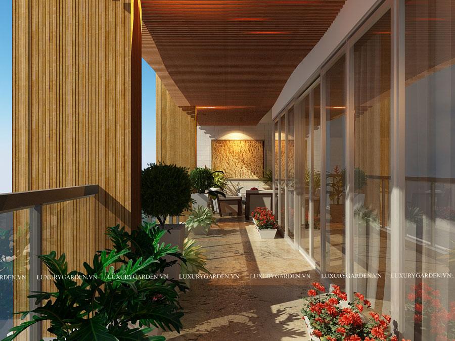 thiết kế nhà vườn biệt thự Penhouse Mandarin