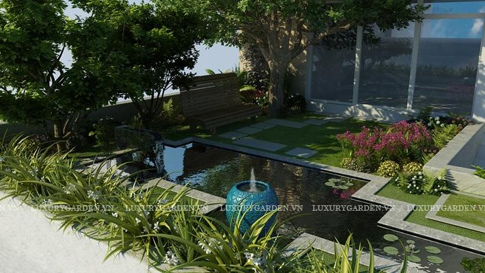 Thiết kế sân vườn biệt thự Ciputra