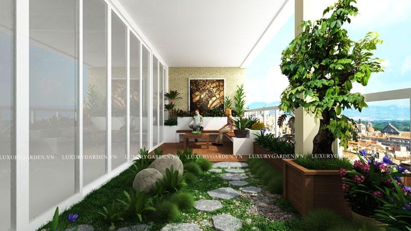 Nhà vườn căn hộ penhouse Mandarin 2 (SG 003)