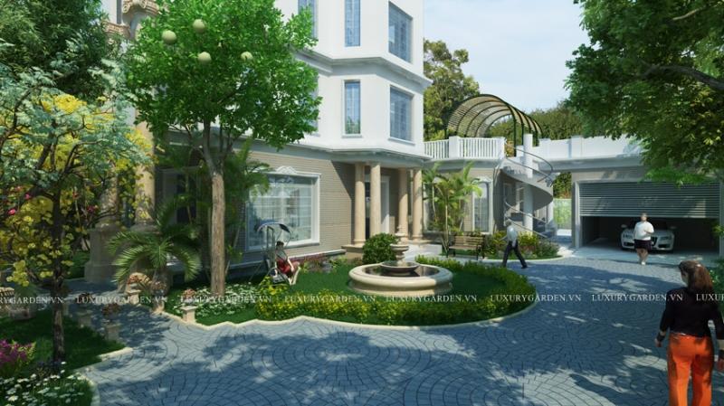Thiết kế sân vườn Hưng Yên