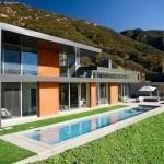 Thiết kế bể bơi hiện đại ăn nhập với ngôi nhà