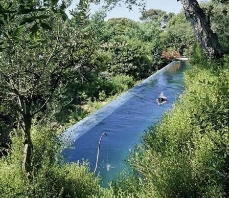 Bể bơi tuyệt đẹp giữa bạt ngàn cây cối