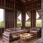 Được xây dựng từ gỗ mang lại sự thân thiện hòa nhã