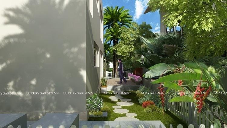 Phối cảnh sân vườn Ecopark 3