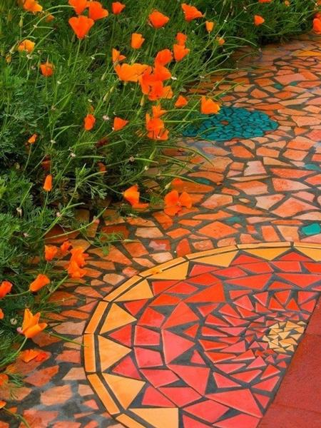 Thảm mosaic phong cách hiện đại