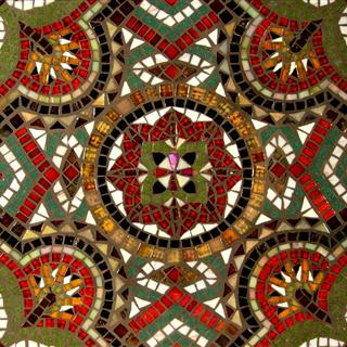 Sân vườn kiểu Mosaic