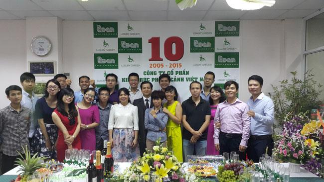 Chúc mừng sinh nhật lần 10 công ty