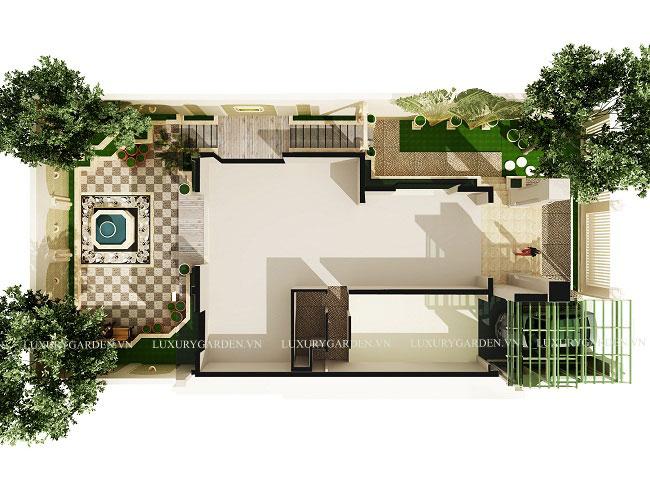 Thiết kế toàn cảnh của biệt thự vườn