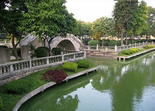 thiết kế vườn của người Trung hoa sử dụng bốn yếu tố để tạo sự cân bằng