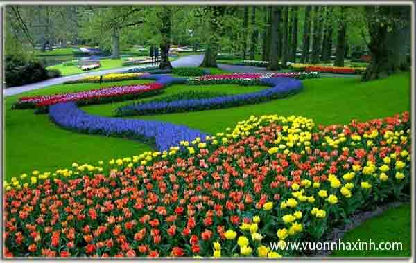 Vườn Châu Âu: một góc màu sắc của công viên