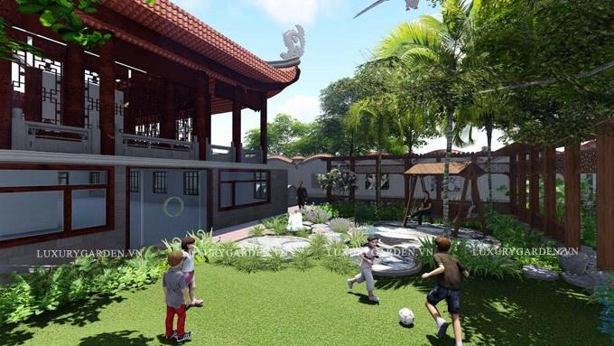 Sân chơi cho trẻ em tiện lợi
