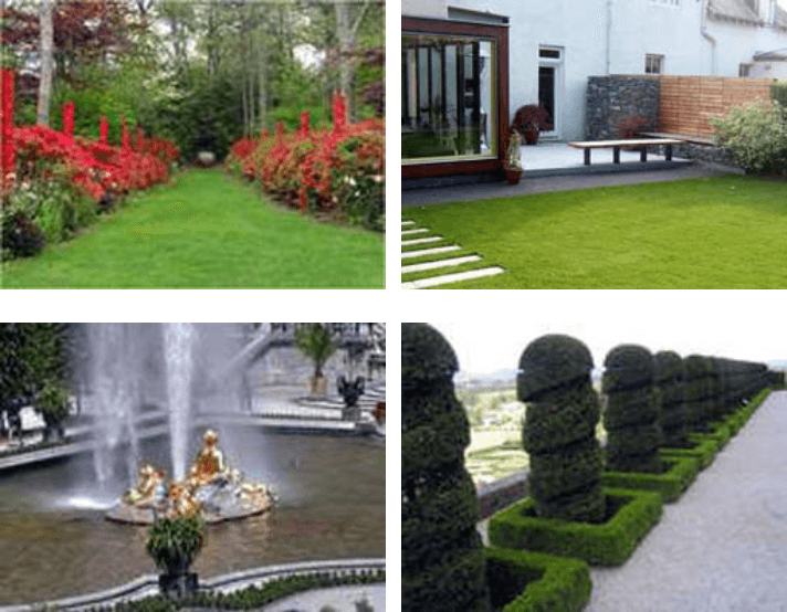 Góc nhìn các sân vườn châu Âu